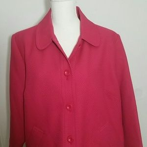 Fuchsia bright pink Blazer button 18